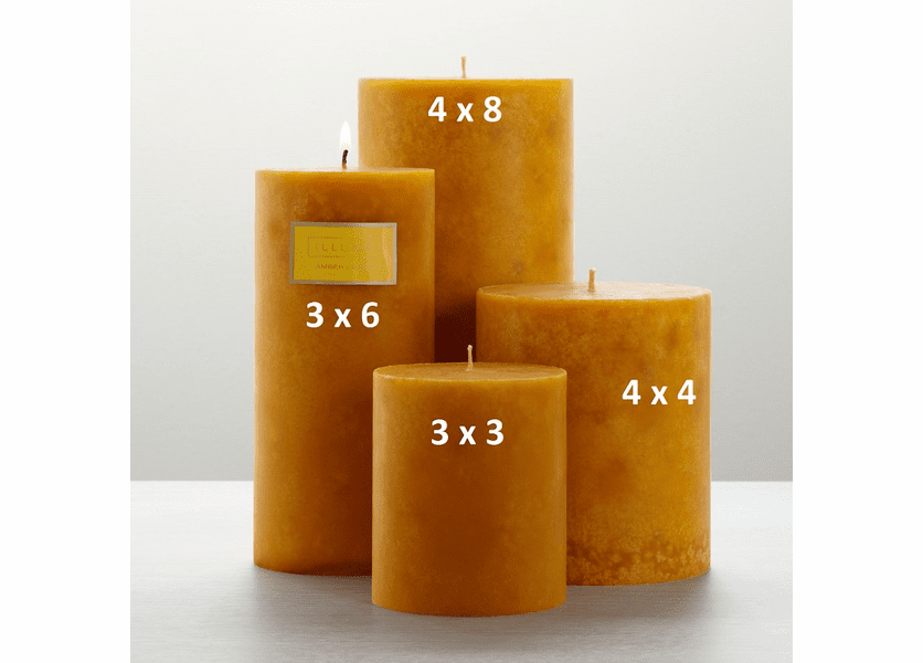 _DISCONTINUED - Amber Dunes 4 x 8 Round Pillar Illume Candle