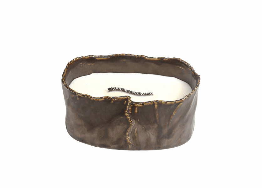 _DISCONTINUED - Amber & Firelight Brownstone Small Oval RibbonWick Candle