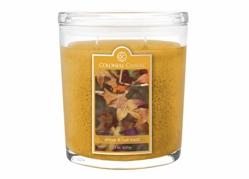 _DISCONTINUED - Amber & Oud Wood 22 oz. Oval Jar Colonial Candle