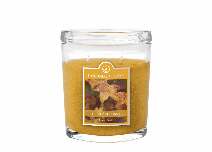 _DISCONTINUED - Amber & Oud Wood 8 oz. Oval Jar Colonial Candle