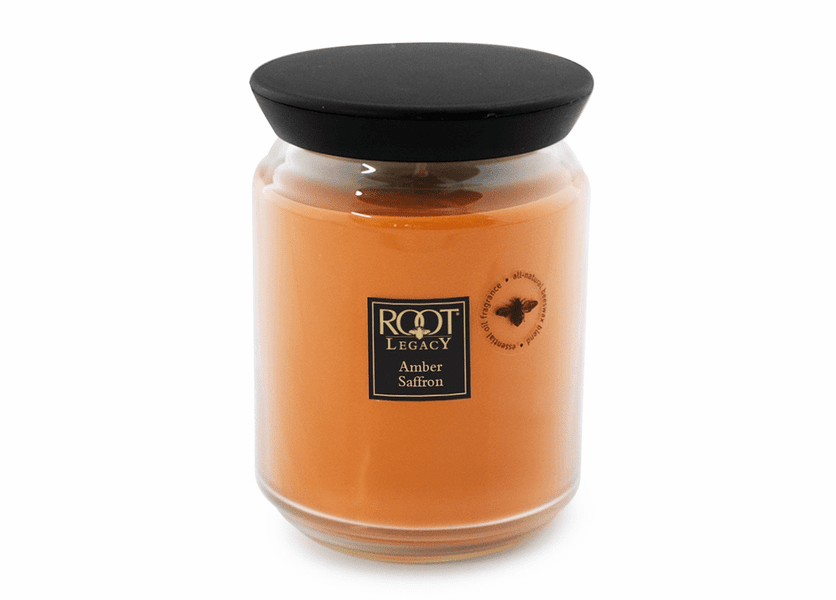 _DISCONTINUED - Amber Saffron 22 oz. Queen Bee Root Candle
