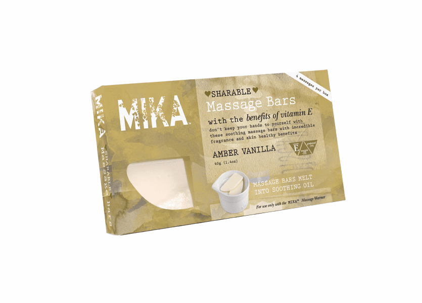 _DISCONTINUED - Amber Vanilla MIKA Massage Melt Bar