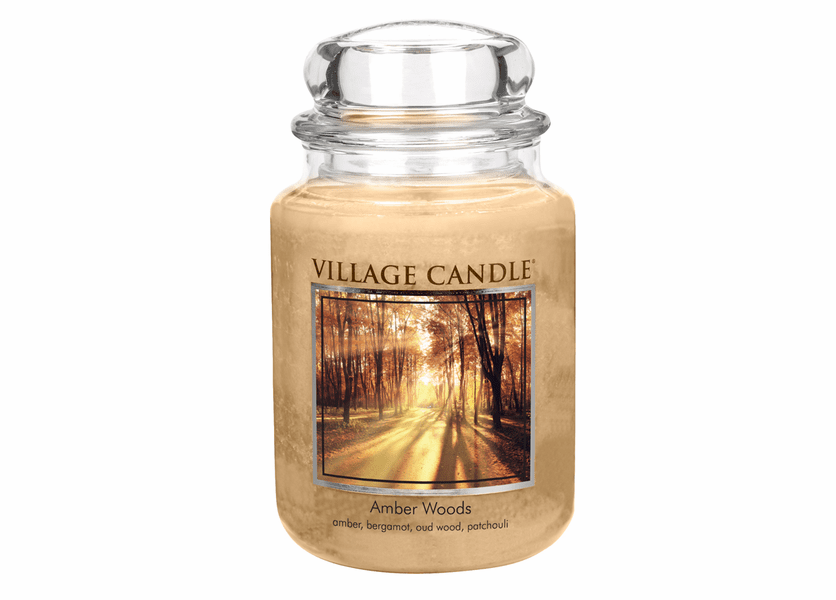 _DISCONTINUED - Amber Woods 26 oz. Premium Round by Village Candles