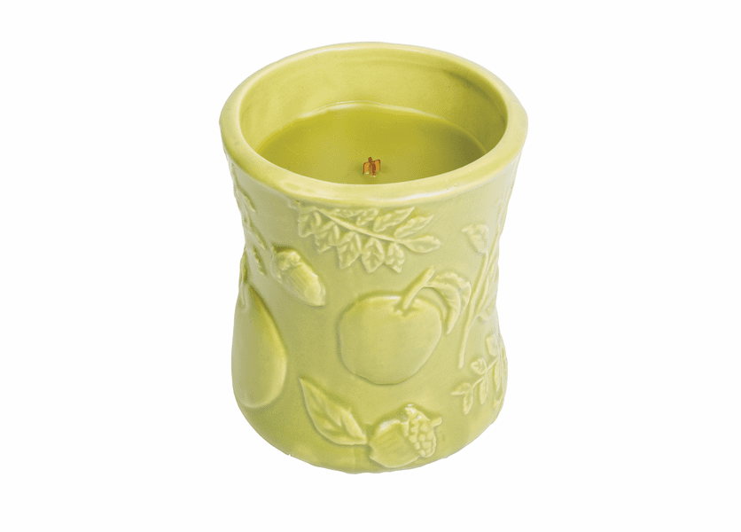 _DISCONTINUED - Apple Basket Ceramic Hourglass WoodWick Candle