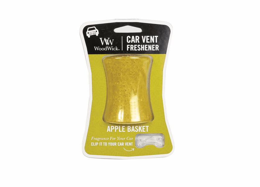 _DISCONTINUED - Apple Basket WoodWick Car Vent Freshener