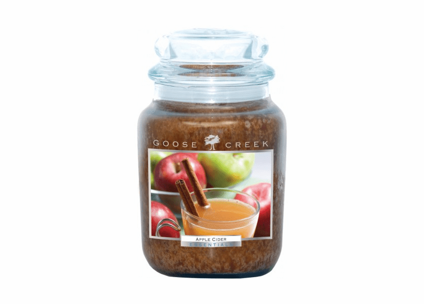 _DISCONTINUED - Apple Cider 26 oz. Essential Series Goose Creek Jar Candle
