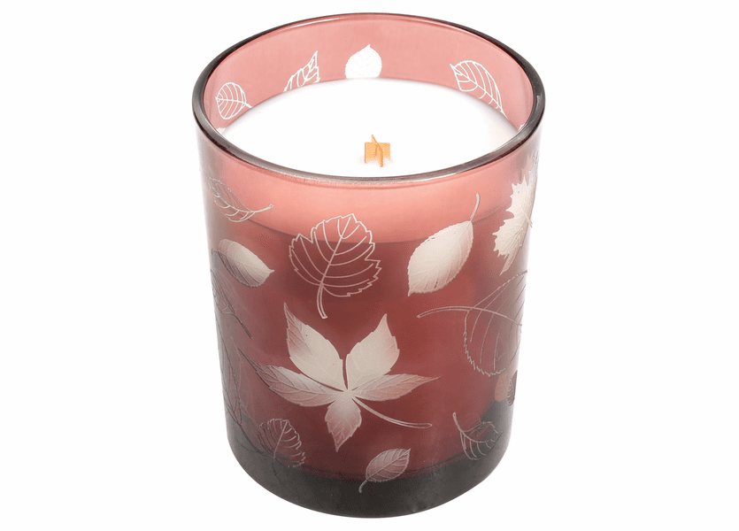 _DISCONTINUED - *Apple Crisp Etched Glass Tumbler WoodWick Candle