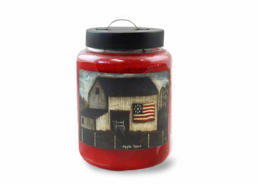 _DISCONTINUED - Apple Spice 26 oz. Folk Art Collection Goose Creek Jar Candles
