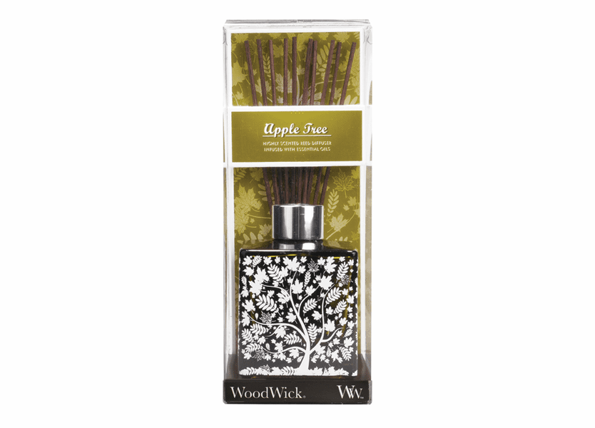 _DISCONTINUED - *Apple Tree 5 oz. WoodWick Decorative Glass Reed Diffuser