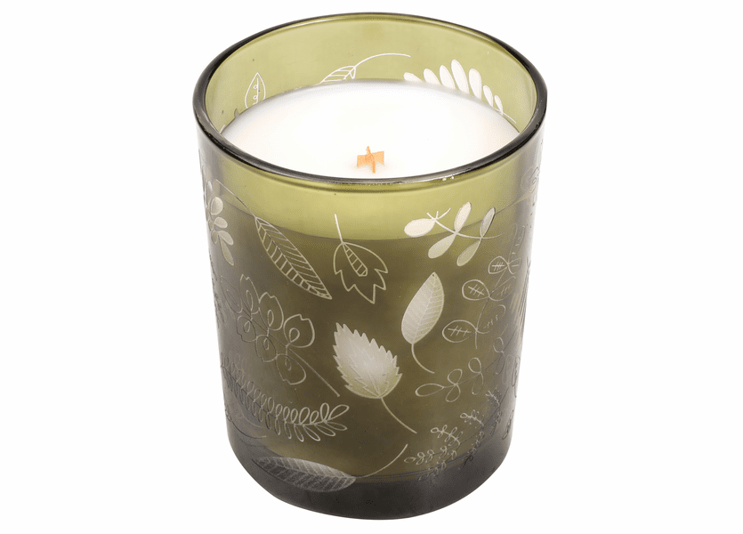 _DISCONTINUED - *Applewood Etched Glass Tumbler WoodWick Candle