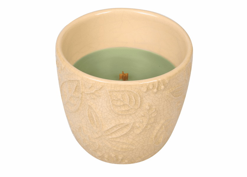 _DISCONTINUED - *Applewood Leaf Collection Ceramic Tumbler WoodWick Candle