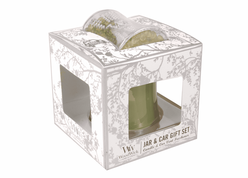 _DISCONTINUED - Applewood WoodWick Jar & Car Gift Set