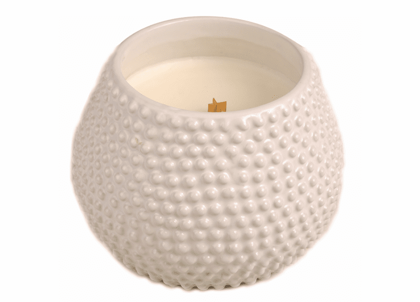 _DISCONTINUED - At The Beach White Round Premium WoodWick Candle