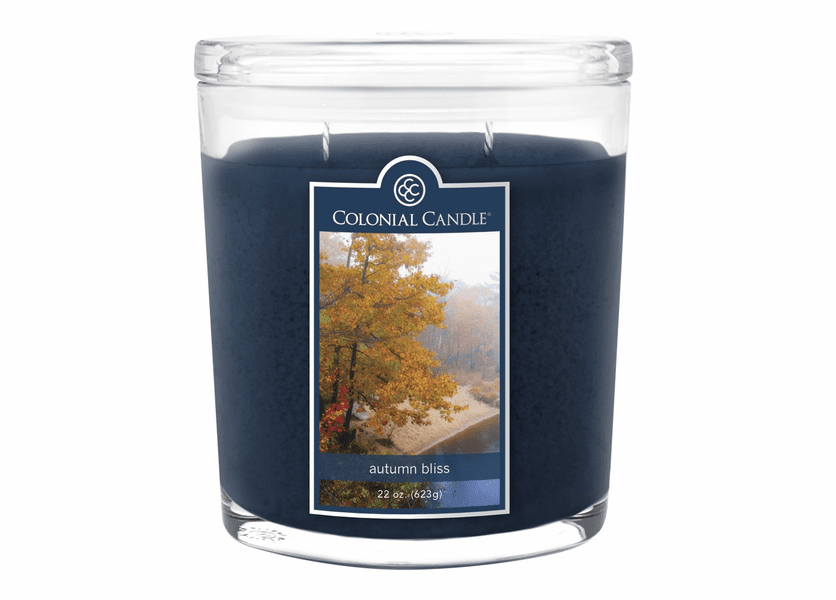 _DISCONTINUED - Autumn Bliss 22 oz. Oval Jar Colonial Candle
