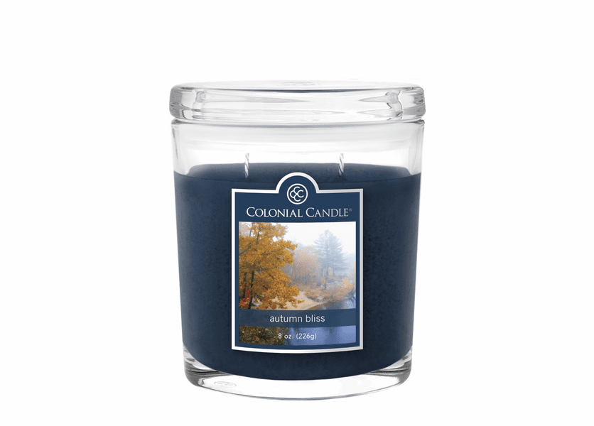 _DISCONTINUED - Autumn Bliss 8 oz. Oval Jar Colonial Candle