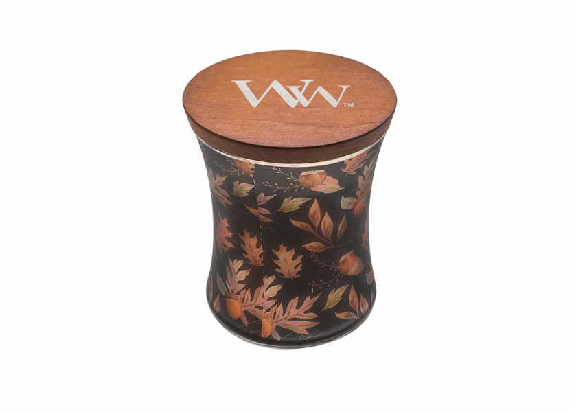 _DISCONTINUED - Autumn Fall Comforts Hourglass WoodWick Candle with Lid
