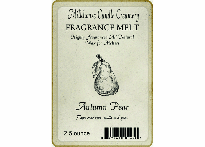 _DISCONTINUED - Autumn Pear Fragrance Melt by Milkhouse Candle Creamery