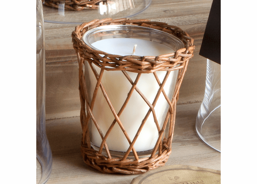 _DISCONTINUED - Autumn Persimmon Wicker Candle by Park Hill Collection