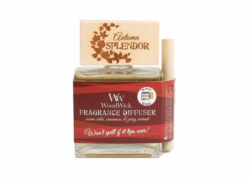 _DISCONTINUED - *Autumn Splendor WoodWick Laser Etched Spill-Proof Diffuser