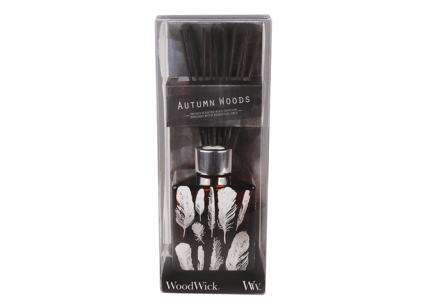 _DISCONTINUED - *Autumn Woods Dancing Glass WoodWick 5 oz. Reed Diffuser
