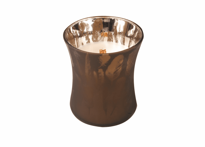 _DISCONTINUED - *Autumn Woods Medium WoodWick Dancing Glass Candle