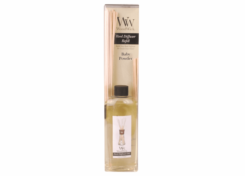 _DISCONTINUED - Baby Powder WoodWick 7.4 oz. Reed Diffuser REFILL