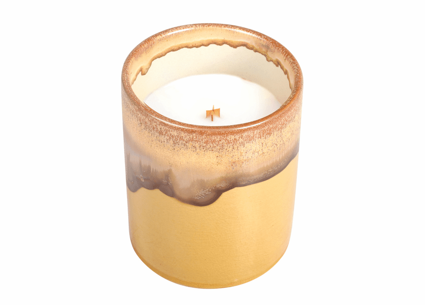 _DISCONTINUED - Bakery Cupcake Dipped Yellow Tumbler Premium WoodWick Candle