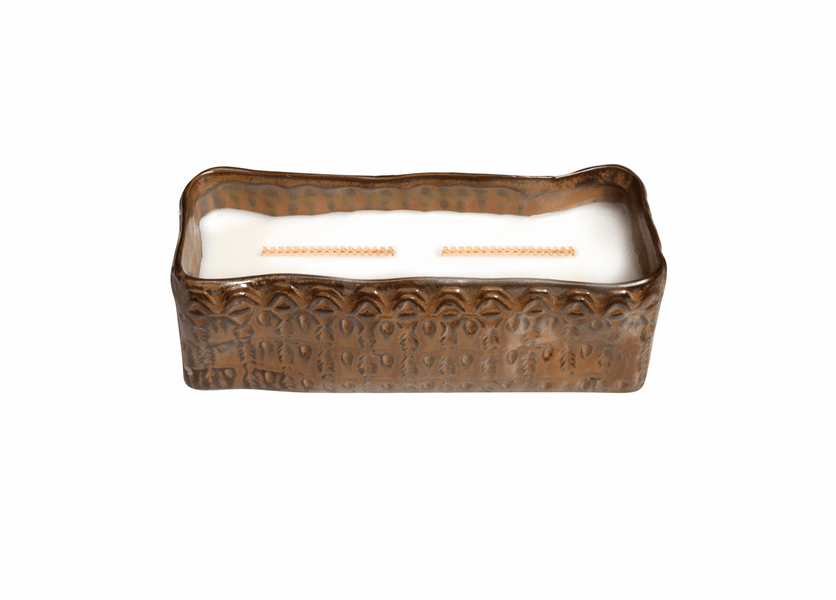 _DISCONTINUED - Bakery Cupcake Tribal Large Rectangle WoodWick Candle with HearthWick Flame