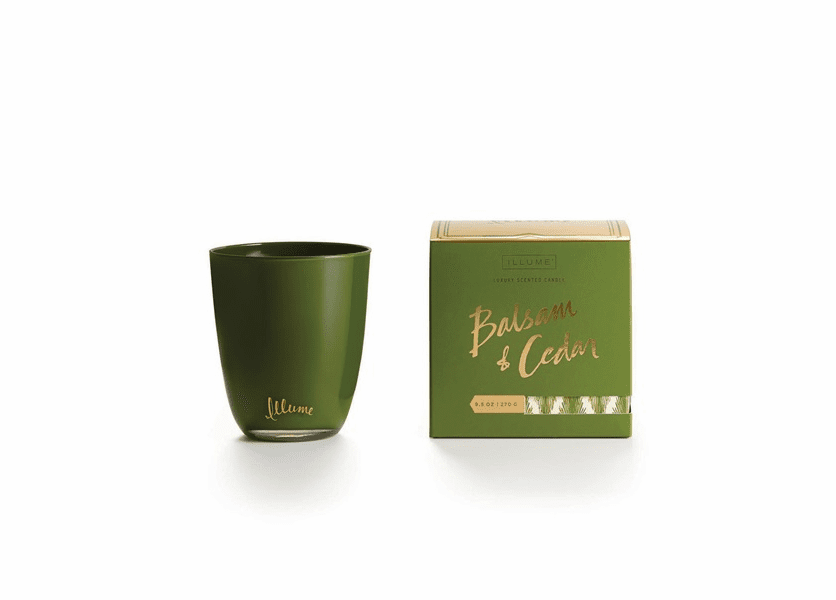 _DISCONTINUED - Balsam & Cedar Boxed Glass Illume Candle