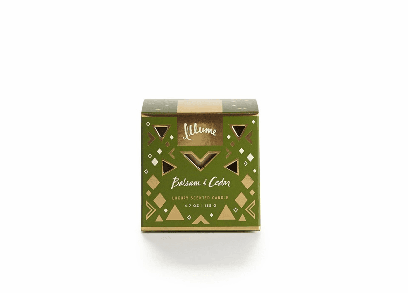 _DISCONTINUED - Balsam & Cedar Demi Boxed Glass Illume Candle
