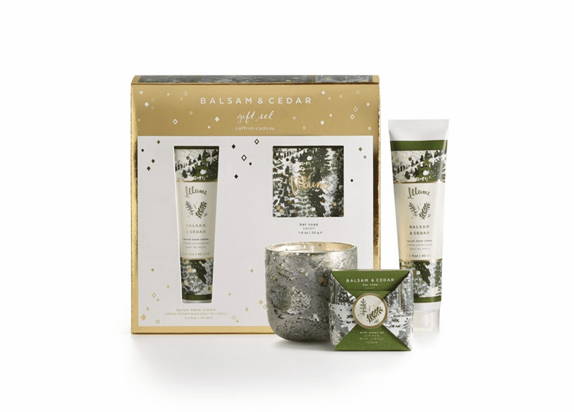 _DISCONTINUED - Balsam & Cedar Novelty Gift Set Illume Candle