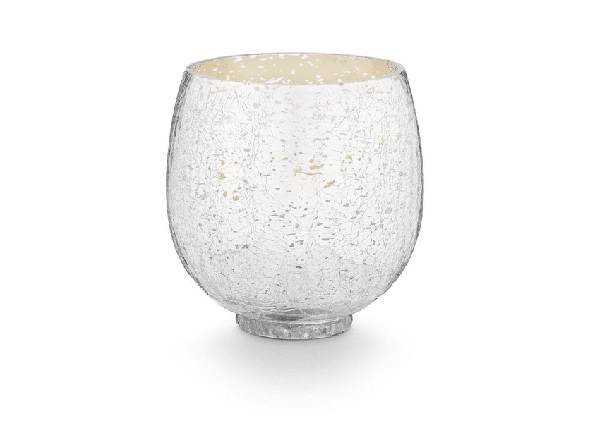 _DISCONTINUED - Balsam & Cedar Small Crackle Glass Illume Candle