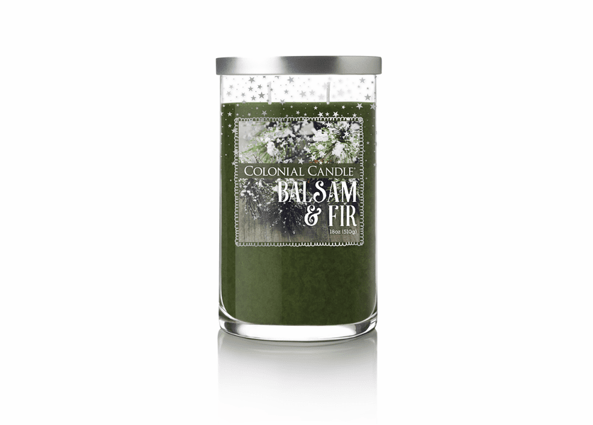 _DISCONTINUED - Balsam Fir 18 oz. Holiday Stars Colonial Candle