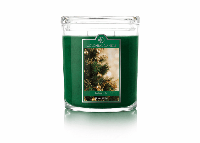 _DISCONTINUED - Balsam Fir 22 oz. Oval Jar Colonial Candle