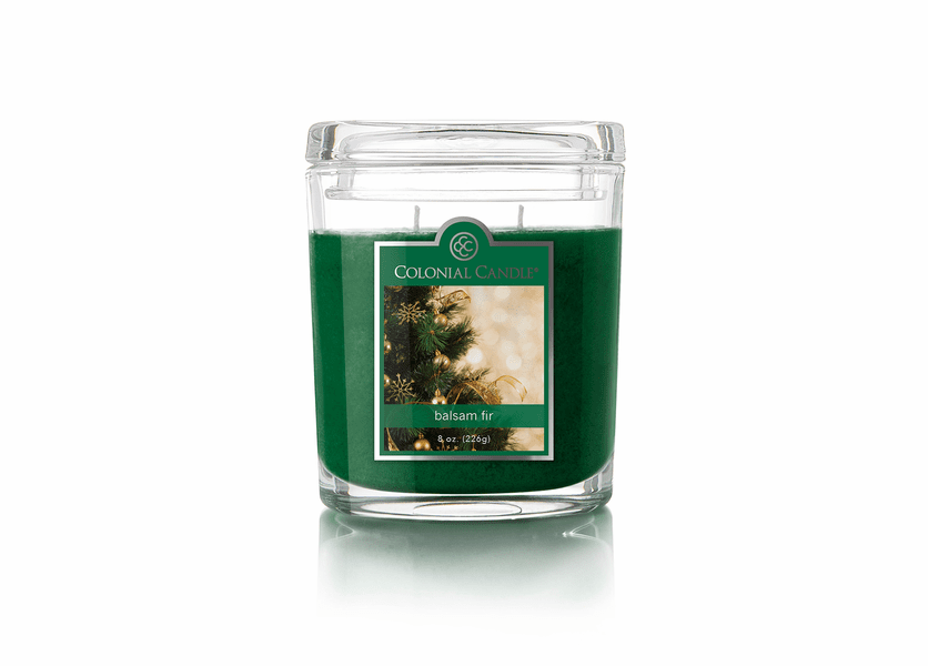 _DISCONTINUED - Balsam Fir 8 oz. Oval Jar Colonial Candle