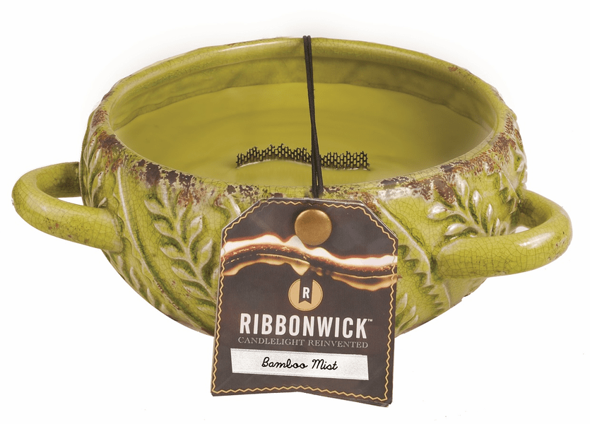 _DISCONTINUED - Bamboo Mist Large Round Premium RibbonWick Candle