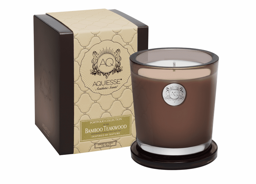 _DISCONTINUED - Bamboo Teakwood Large Soy Candle by Aquiesse