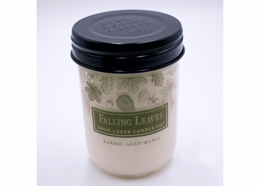 _DISCONTINUED - Barrel-Aged Maple 12 oz. Swan Creek Autumn Traditions Jar Candle