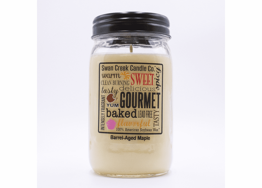 _DISCONTINUED - Barrel-Aged Maple 24 oz. Swan Creek Kitchen Pantry Jar Candle
