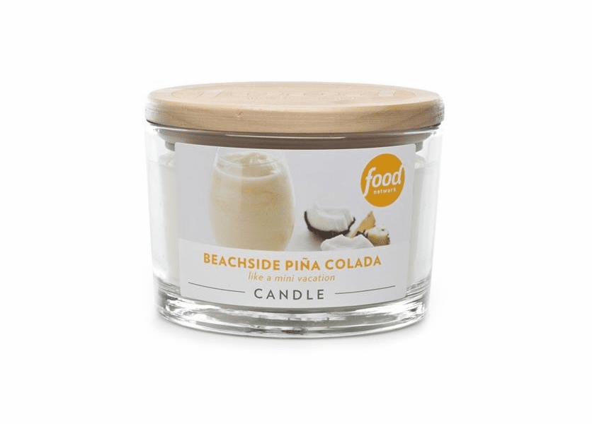 _DISCONTINUED - Beachside Pina Colada 16 oz. Food Network Glass Jar Food Network Candle