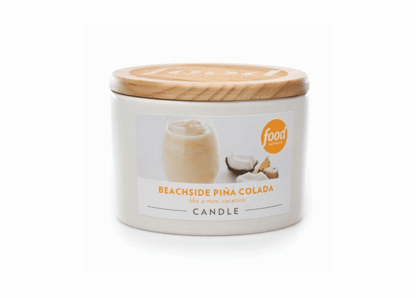 _DISCONTINUED - Beachside Pina Colada 16 oz. Food Network Round Crock Candle by Boulevard