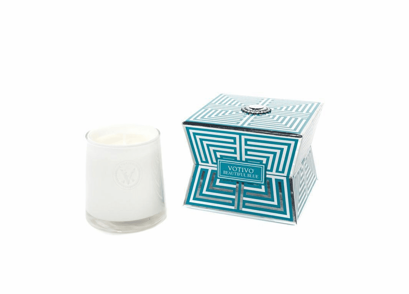 _DISCONTINUED - Beautiful Blue Soziety Jar Votivo Candle