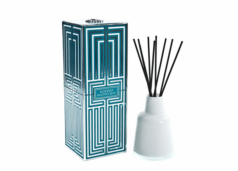 _DISCONTINUED - Beautiful Blue Soziety Reed Diffuser Votivo Candle