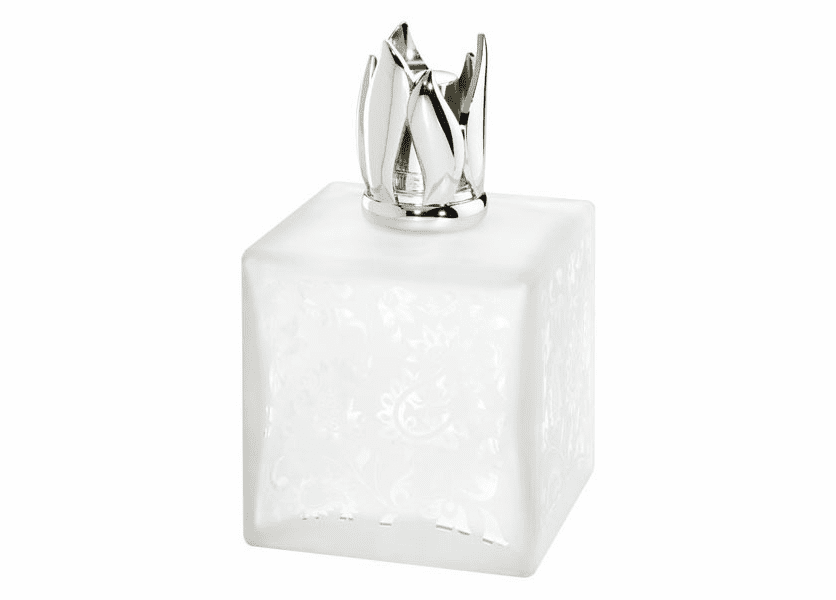 _DISCONTINUED - Beaux Art Cube White Fragrance Lamp by Lampe Berger