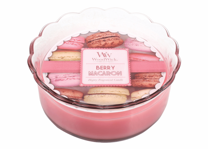 _DISCONTINUED - Berry Macaron WoodWick Macaron Collection Candle