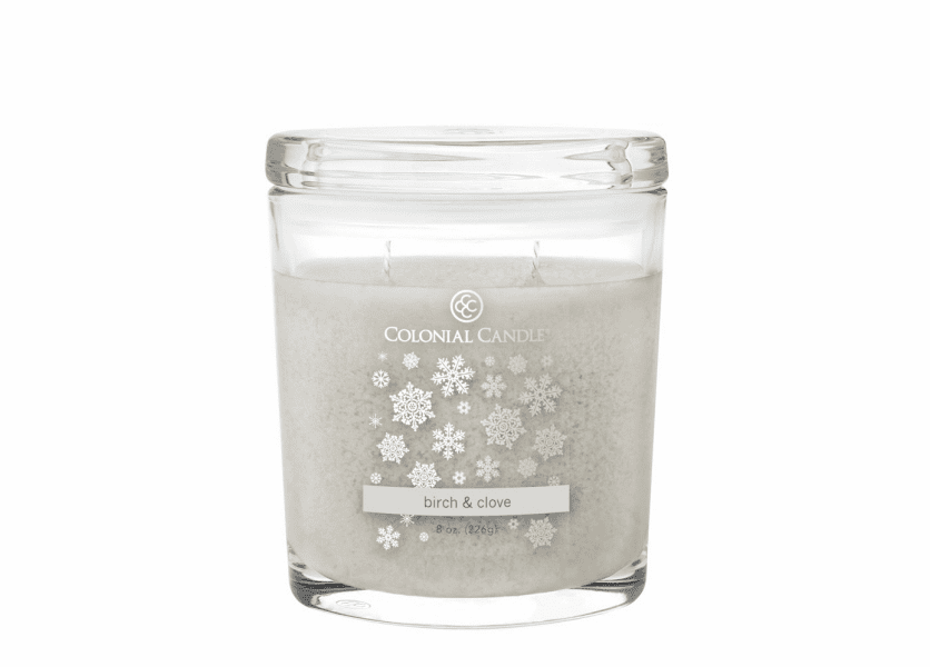 _DISCONTINUED - Birch & Clove 8 oz. Oval Jar Colonial Candle