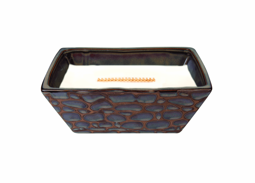 _DISCONTINUED - Birchwood River Rock Medium Rectangle WoodWick Candle with HearthWick Flame