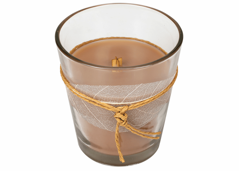 _DISCONTINUED - *Biscotti Leaf Collection Glass Jar WoodWick Candle