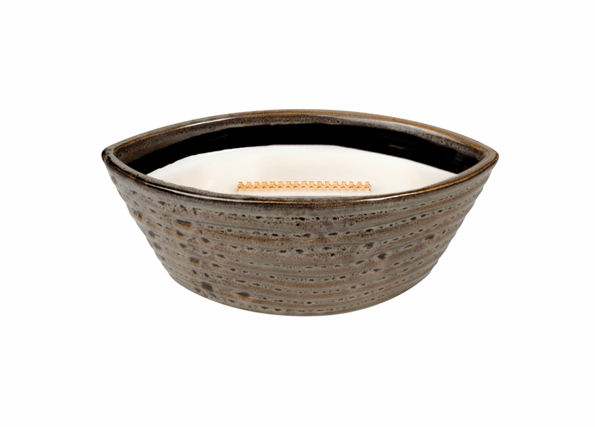 _DISCONTINUED - Biscotti Ribbed Medium WoodWick Candle with HearthWick Flame