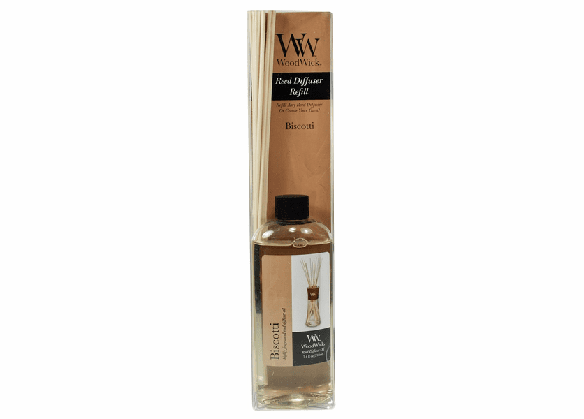 _DISCONTINUED - Biscotti WoodWick 7.4 oz. Reed Diffuser REFILL